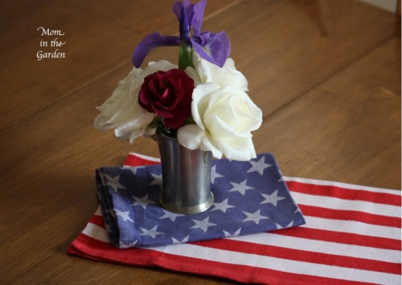 flowers and stars and stripes napkins