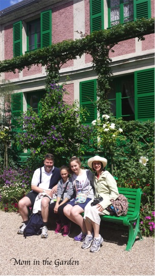 My son was nice enough to take a picture of the rest of the family in front of Monet's house