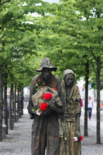 The Famine Memorial statues in Dublin