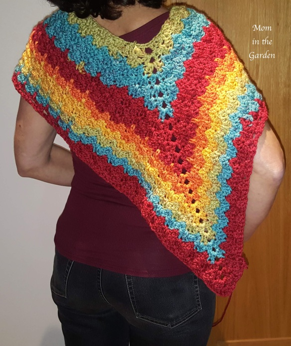 the back of the poncho half completed