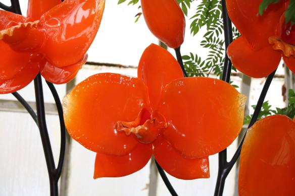 blown glass flowers