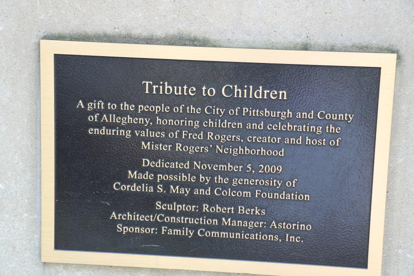 Tribute to the Children plaque