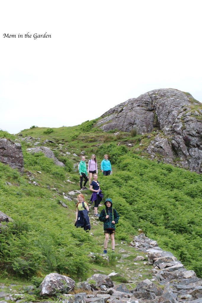 climbing high on the Killary coastal path