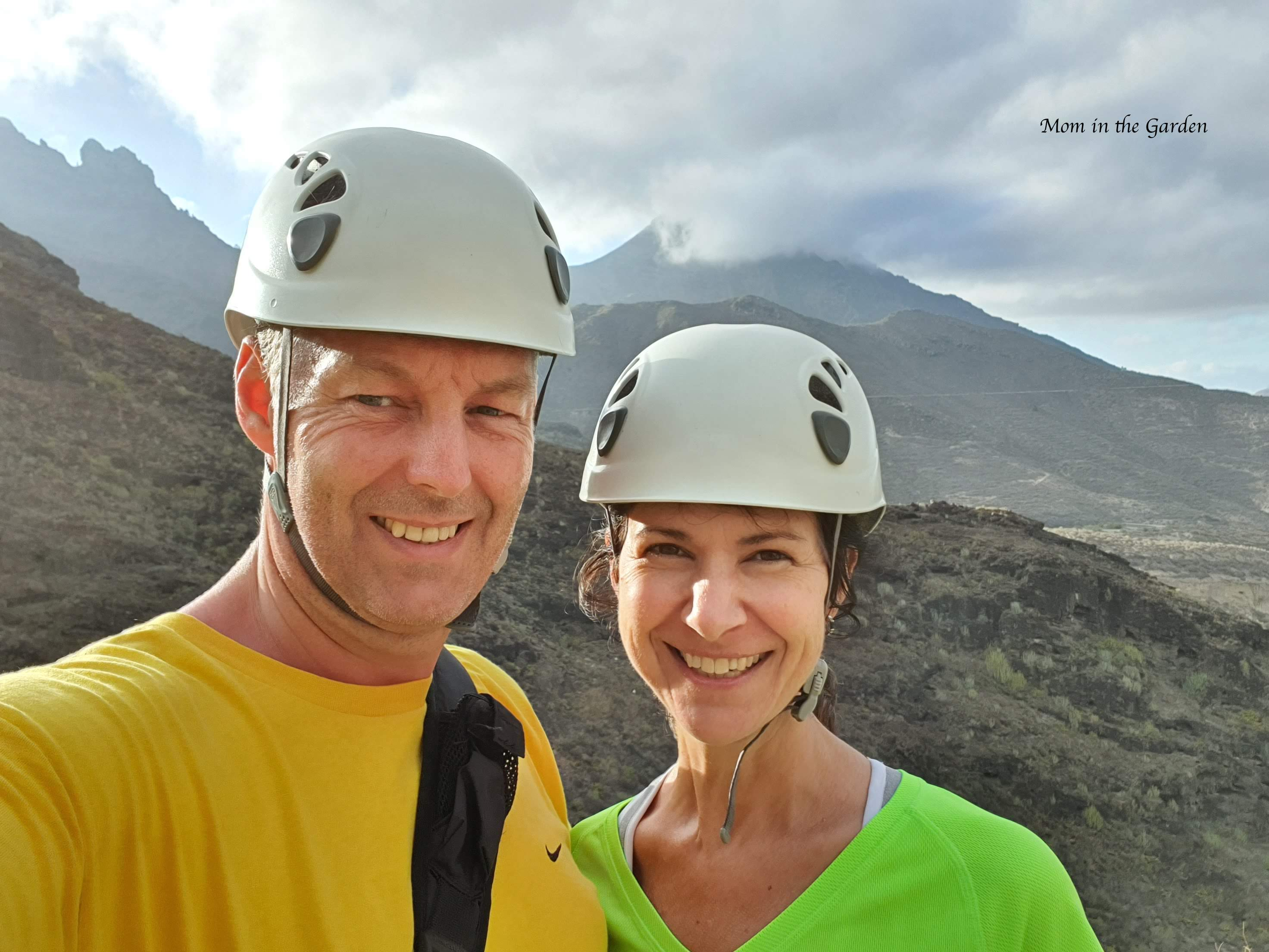 Dana and Páraic at the start of Barranco del Infierno in Adeje, Tenerife