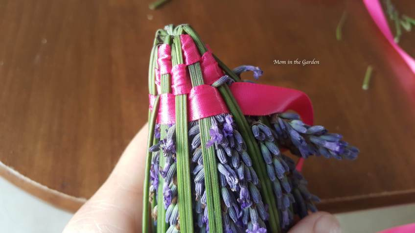 Lavender Wand being made