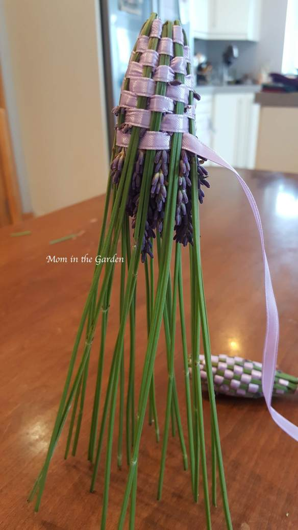 Lavender wand standing lavender ribbon