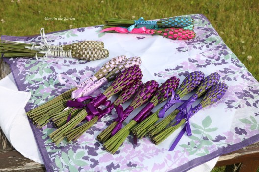 lavender wands on scarf