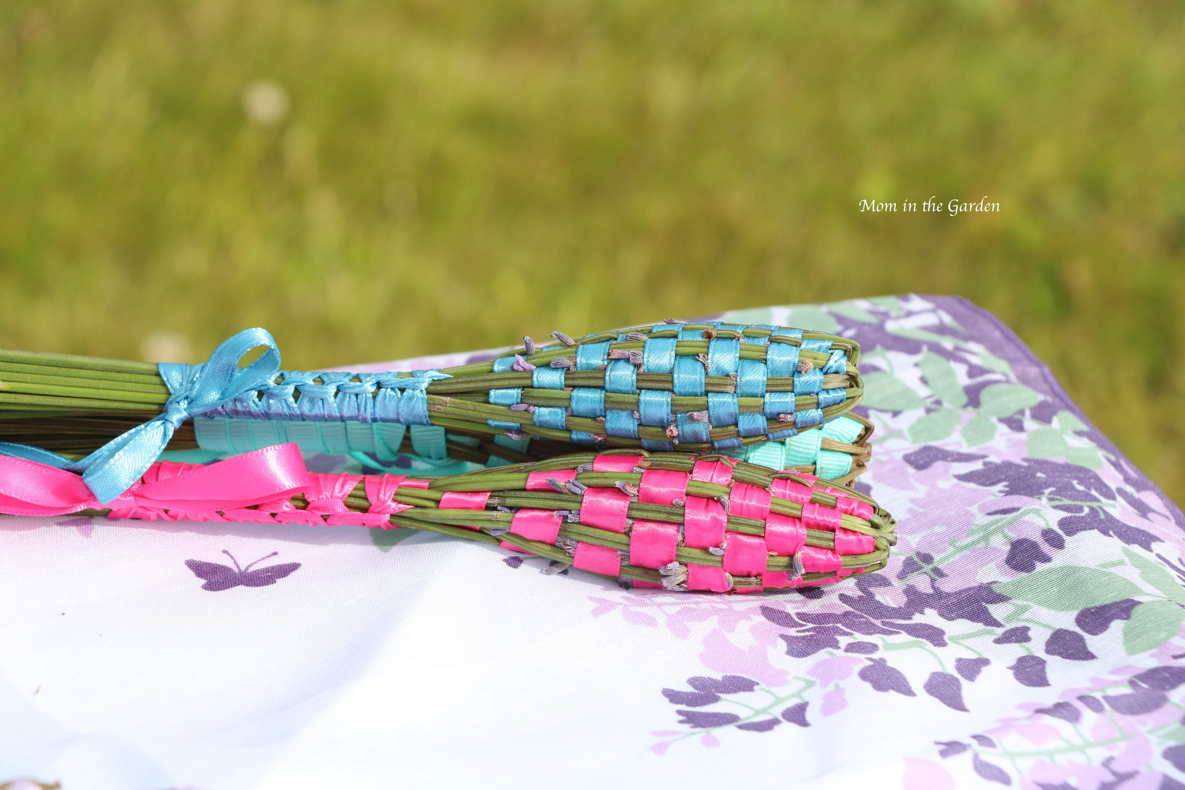 lavender wands in pink and blue