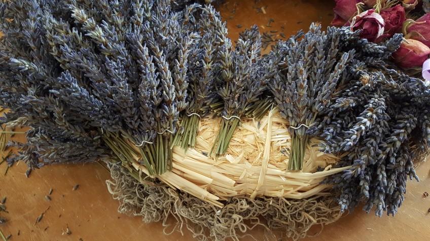 Lavender wreath almost complete