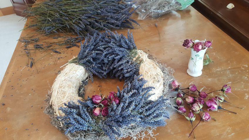 Lavender Wreath beginning