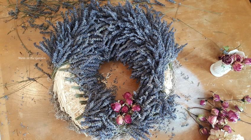 Lavender Wreath in progress