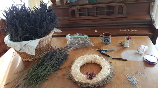 Lavender Wreath set up