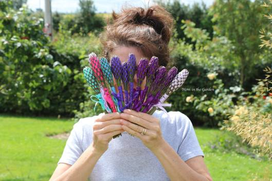 Mom in the Garden with Lavender Wands