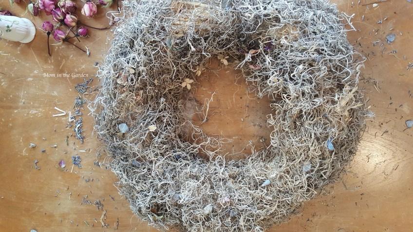Spanish Moss covered wreath