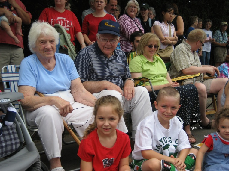 Betty & Harold at the 4th of July parade in 2006 in Manlius, NY