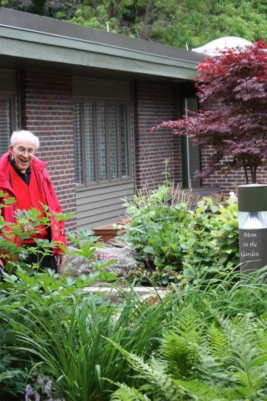 June 2013 Monsignor McCloskey in the garden