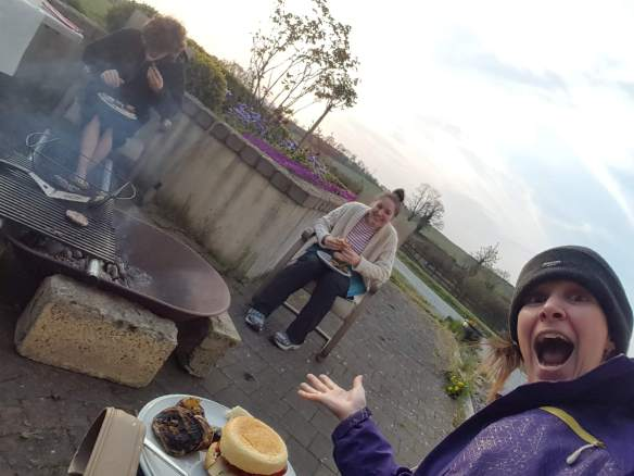 BBQ outside with the family