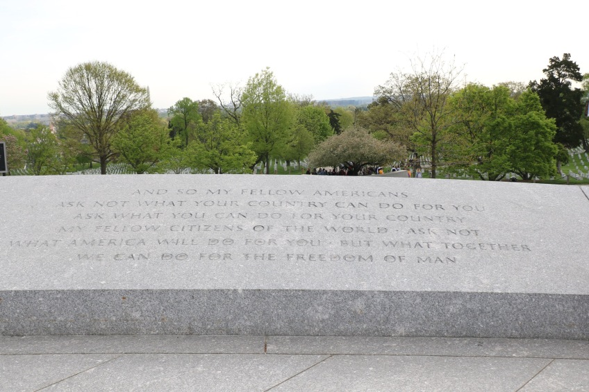 JFK's famous quote at Arlington National Cemetery