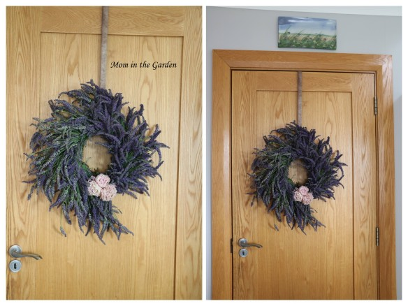 lavender wreath inside collage