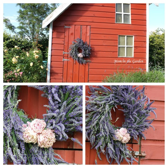 Wreath on playhouse collage