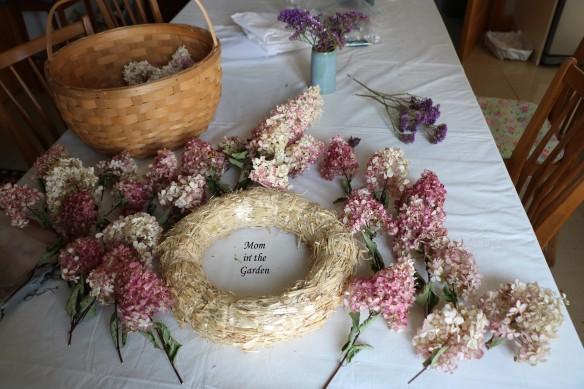 Hydrangea Vanille Fraise Paniculata Renhy Wreath set up