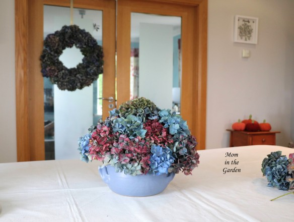 hydrangea arrangement back view