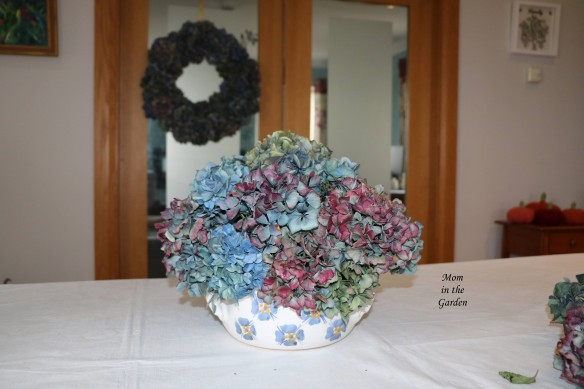 Hydrangea arrangement full view