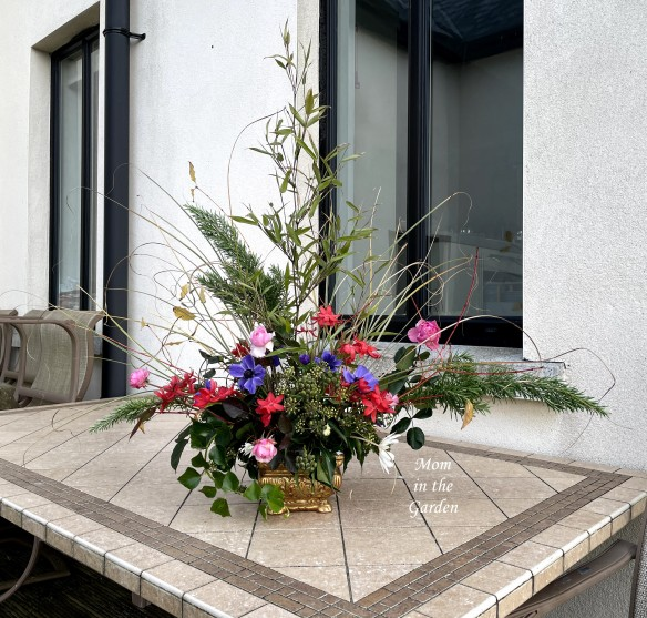 flower arrangement outside