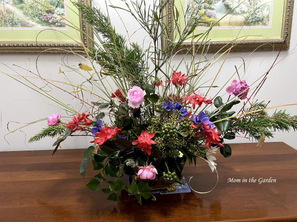 inside flower arrangement