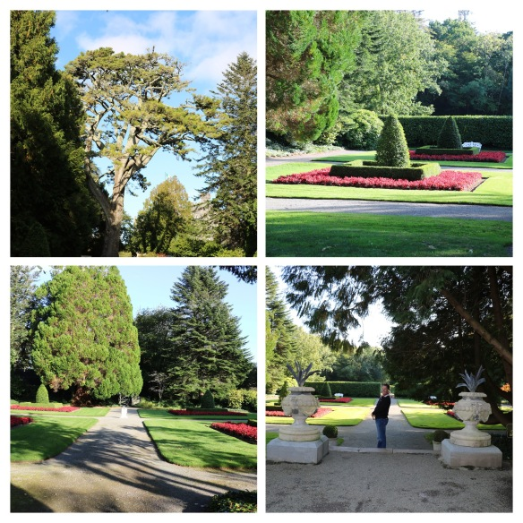 collage of the gardens