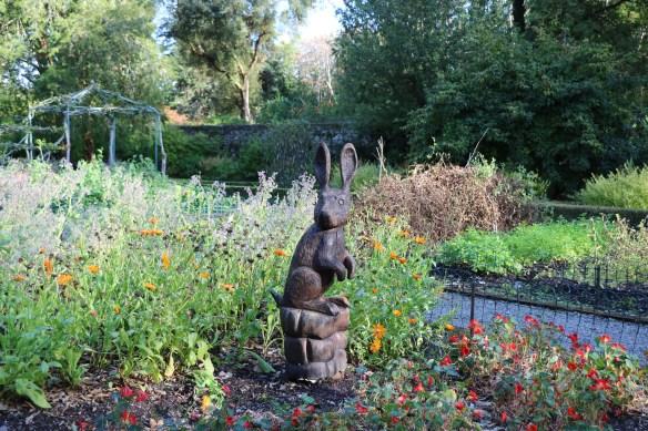 Garden art - a rabbit at Ashford Castle