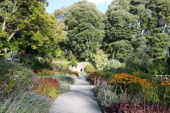 path in the garden at Ashford Castle