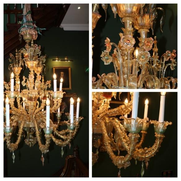 chandelier at Ashford castle