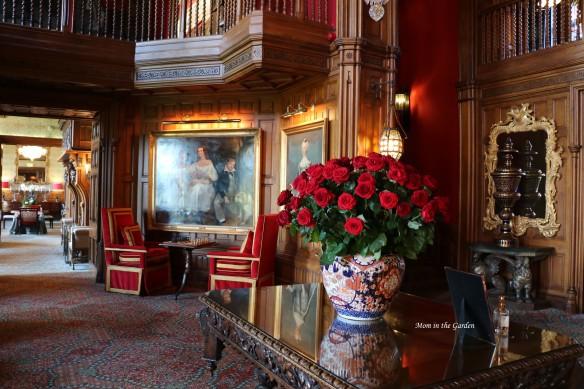 Vase of roses at Ashford castle