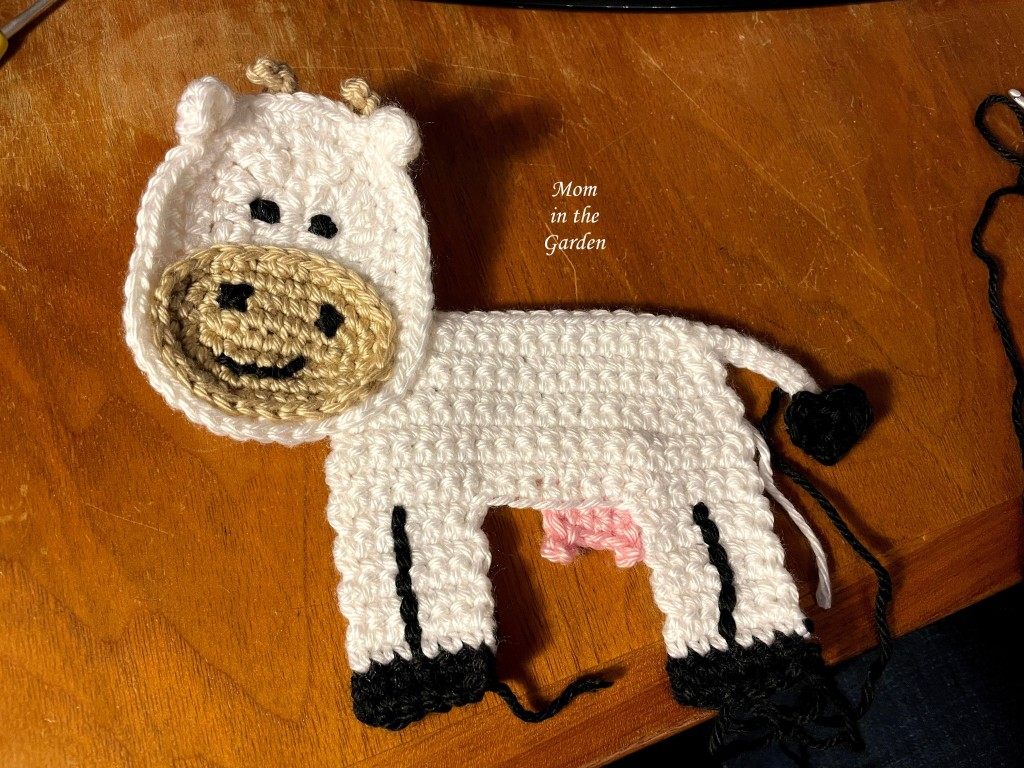 crochet cow in progress