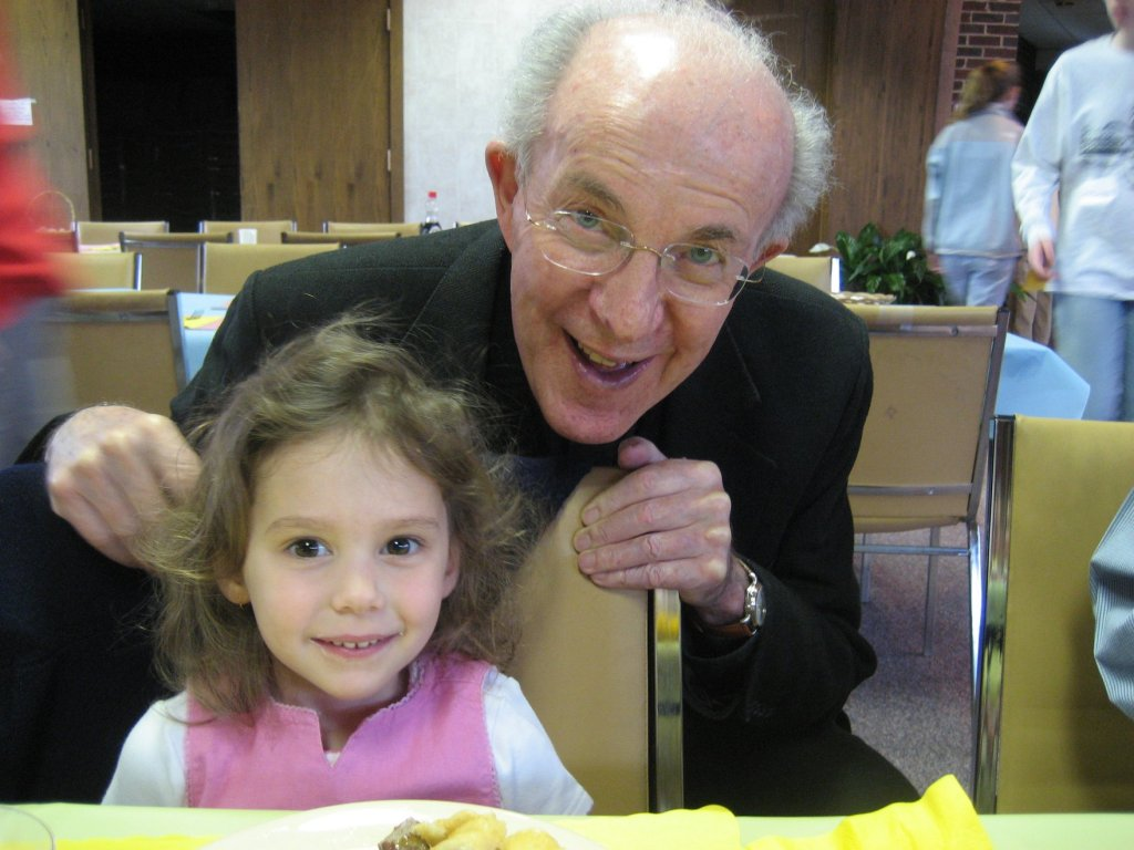Cliona and Monsignor at a church event