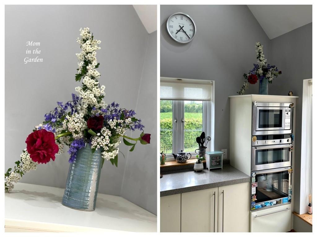 floral arrangement in kitchen