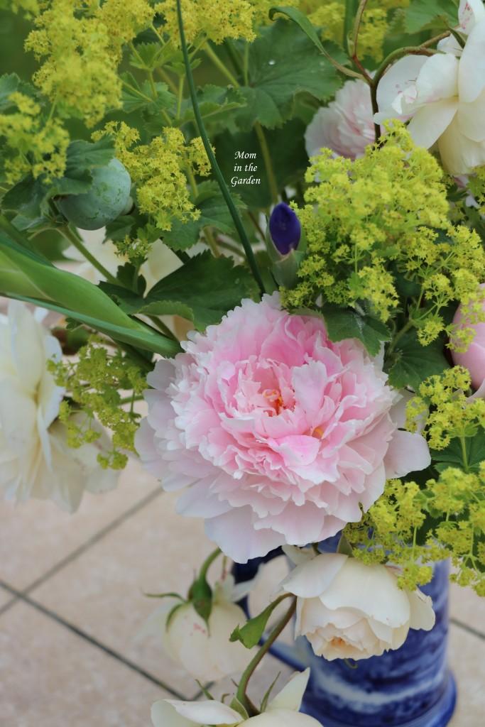 Flower arrangement close up peony
