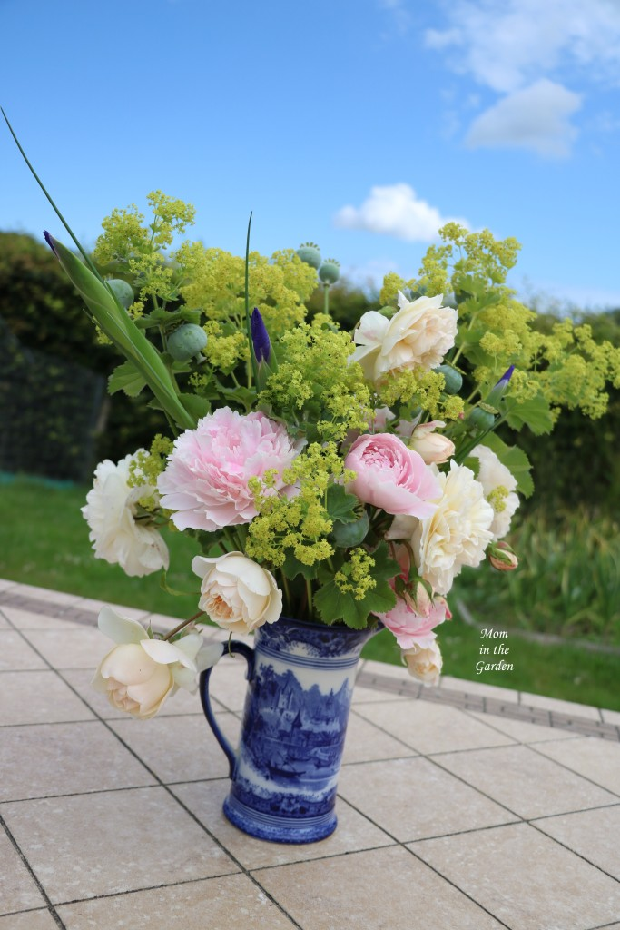 Flower arrangement side view